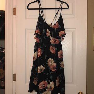 Criss crossed flower dress